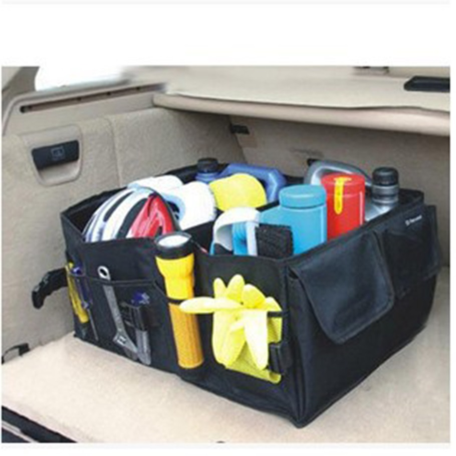 Online Shop 2017 New Multipurpose Trunk Pouch Car Glove Box Storage Cubby Collapsible Tidy Bag Auto Organizer