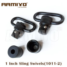 "Armiyo 1 ""25.4 millimetri di trasporto Tattico Pistola Rapida Stacca di Sblocco Sling Swivel Fit Caccia Rifle Airsoft Armi Accessori di Paintball 1011-2(China)"