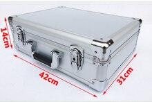 Алюминиевый корпус инструмента чемодан Toolbox пароль файл коробка ударопрочный безопасности случае Оборудование Инструмент дистанционного управления