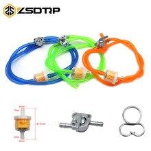 ZSDTRP Универсальный 6 мм бензиновый масляный топливный фильтр и топливная трубка и масляный переключатель набор для мотогонок мопед скутер Байк ATV