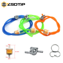 ZSDTRP Universal 6mm Gasoline Oil Fuel Filter & Fuel Tube & Oil switch Set For Motorcycle Racing Moped Scooter Dirt Bike ATV