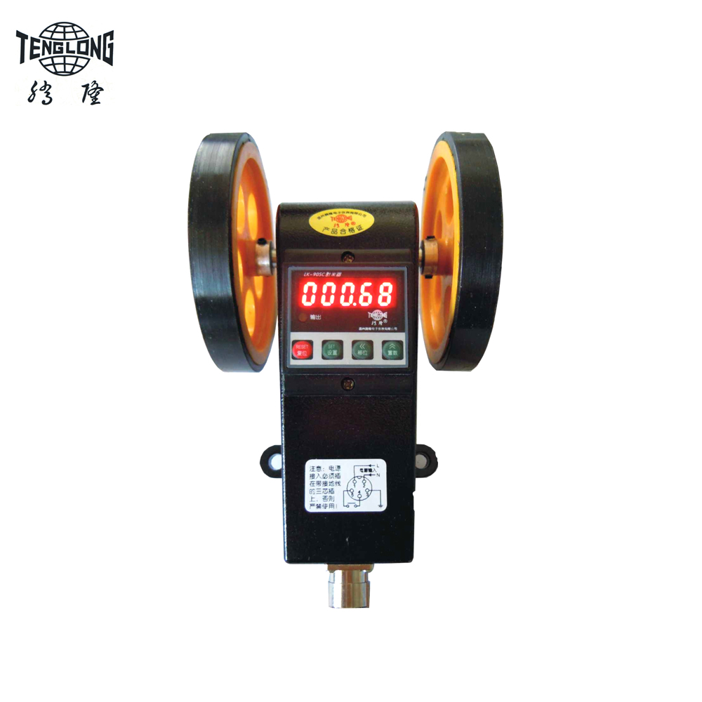 LK-90SC Length measuring meter wheel encoder Cable Length counter digital electronic counter with accuracy 0.01 meter or yard can add and subtract electronic digital display counter meter meter set