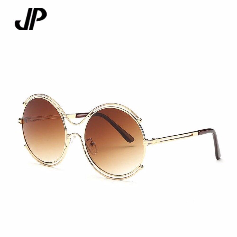 JP marque lunettes de soleil femmes lunettes vintage design de mode lunettes  de soleil ronde fame oculos gafas de sol oculos de sol feminino UV400 59cd1e0a9a9a