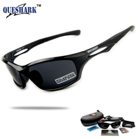 Queshark New 2017 Full Revoed Polarized Sunglasses Cycling Glasses TR90 Frame For Running Eyewear Sports Outdoor
