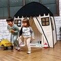 Árvore de amor Crianças Indoor Castelo Da Princesa Jogo Tendas Ao Ar Livre Grande Teatro Secret Garden Playhouse Jogue Tent-Preto e Branco