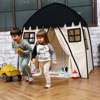 Love Tree Kids Indoor Princess Castle Play Tents Outdoor Large Playhouse Secret Garden Play Tent Black