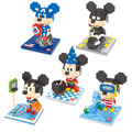 Serie Mickey Mouse Diamond Building Blocks Mini Ladrillos DIY Juguetes Divertidos Mago Cosplay Batman Animales de Dibujos Animados Regalo Modelo