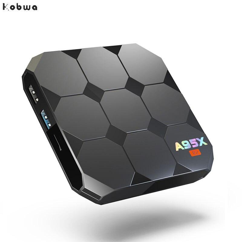 A95X R2 Android 7.1 2G RAM 16 Smart TV Box S905W Quad-core ROM Set Top Box Satellite Receiver 4K 3D H.265 TF Card Media Player excelvan w95 tv box android 7 1 amlogic s905w quad core 2g ram 16g rom set top box 2 4g wifi hdmi2 0 3d h 265 4k media player