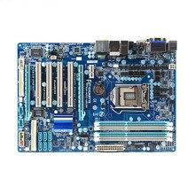 Оригинальная настольная материнская плата H55 для Gigabyte GA-H55-UD3H LGA 1156 DDR3 H55-UD3H платы 16 Гб ATX Поддержка X3440 X3470 X3460