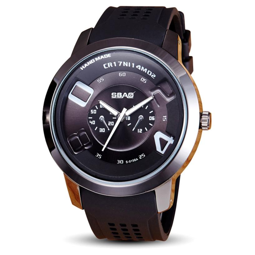 Luxury Men Watch Famous Brand 2017 New Fashion Silicone Band Big Dial Quartz Wristwatches Mens Sports Watches Reloj Hombre Dec07 2017 weide fashion watch for men new arrival watches luxury brand men sports fashion unique design soft silicone strap big dial
