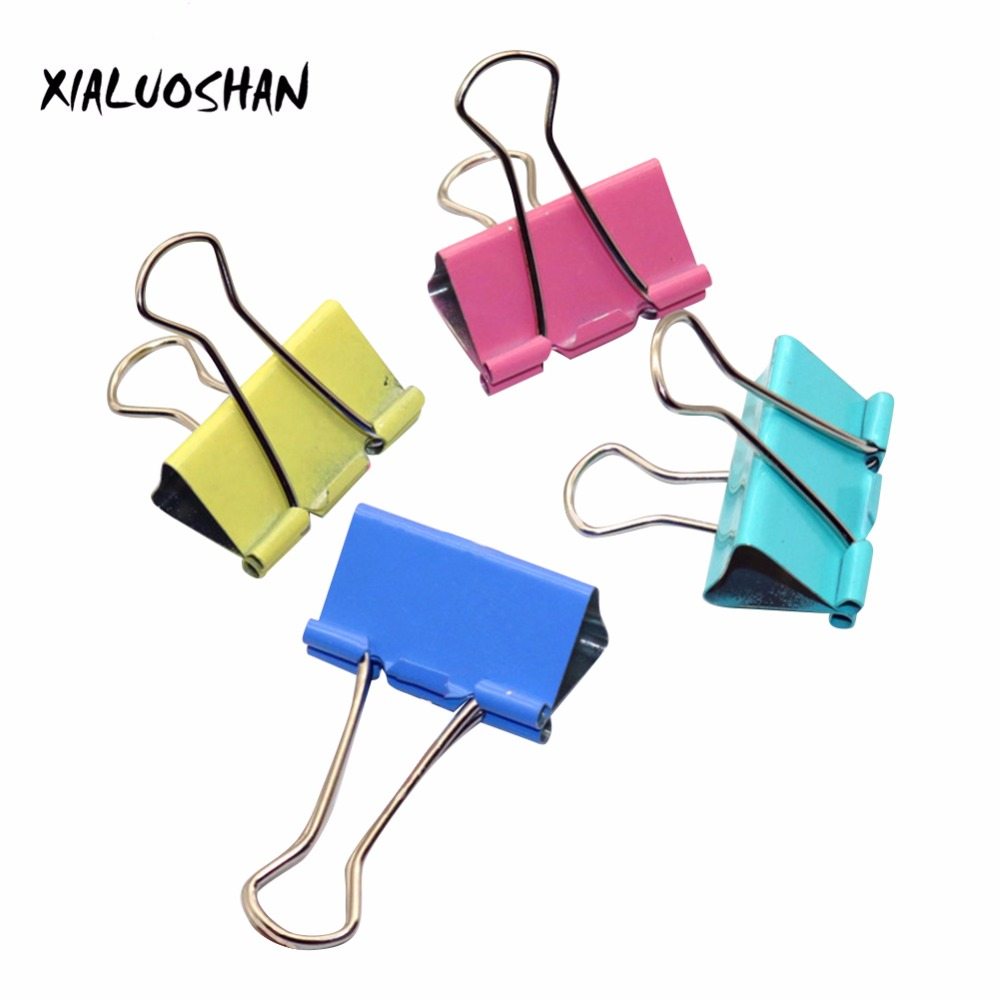 40 Pcs/set Students Office Tools Photo Holder Paper Multicolor Long Tail Clips Stationery Folder Fashion
