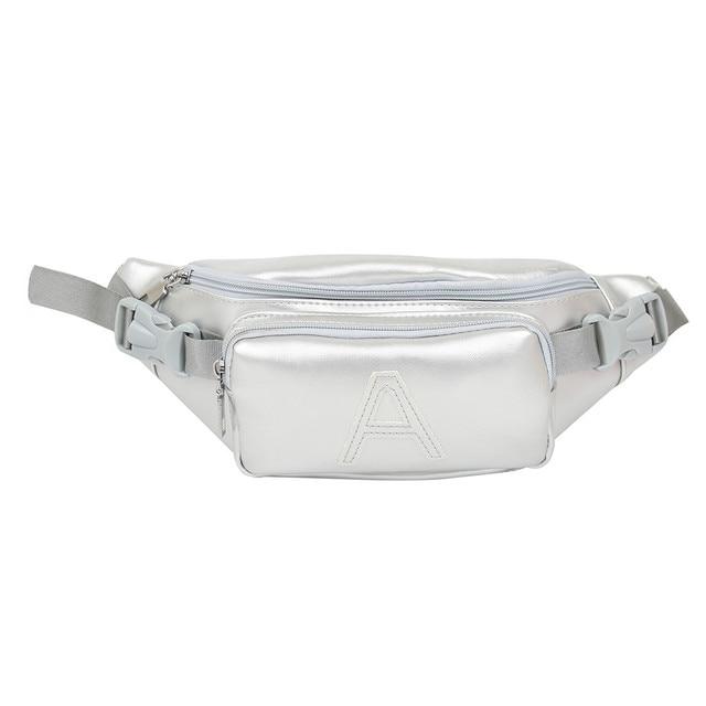 Hillsionly Unisex Saco Peito Moda Cor Pure bolsa de Ombro Versátil PU Carta Saco Crossbody Peito À Prova D' Água Saco bolsa feminina