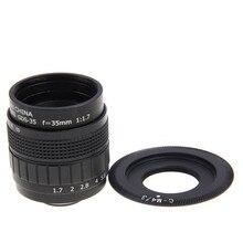 Fujian 35mm f1.7 cctv f1.7 lens + c-m4/3 mount anel para panasonic gf9 gf8 GF7 GF6 GF5 GF3 GH2 G3 G5 G7 GH4 GX7 GX8H GX8 G7H G7K