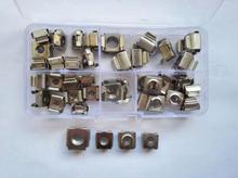 40pcs M4 M5 M6 M8 304 Stainless Steel Cage Cabinet Nut Floating Nuts Clip nuts Assortment