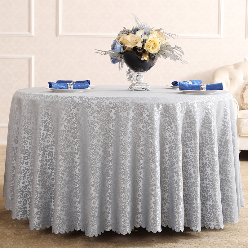 European style quality jacquard restaurant hotel round table cloth for weddings parties hotels restaurant