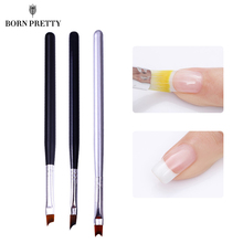 French Tip Nail Brush Acrylic UV Gel Drawing Painting Pen Black Handle Design Manicure Art Tool