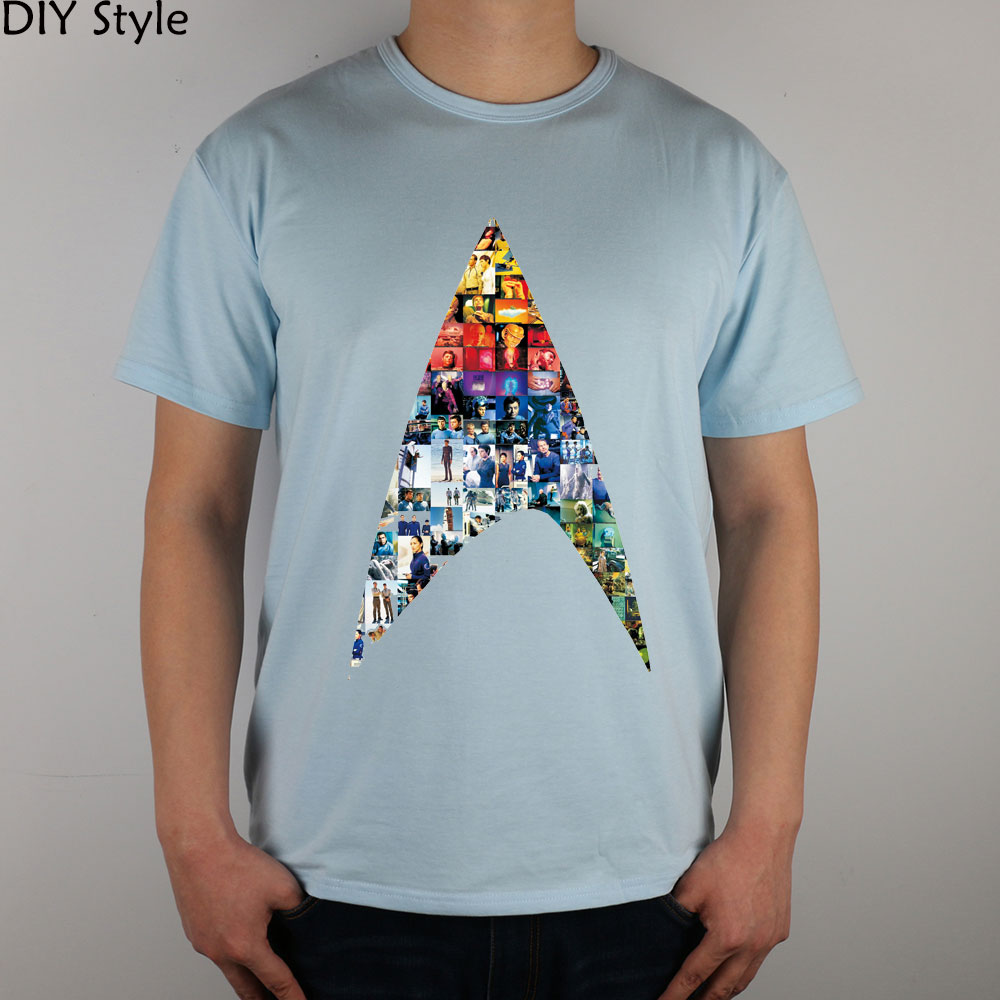 STAR TREK Sci-fi classic T-shirt cotton Lycra top 8188 Fashion Brand t shirt men new