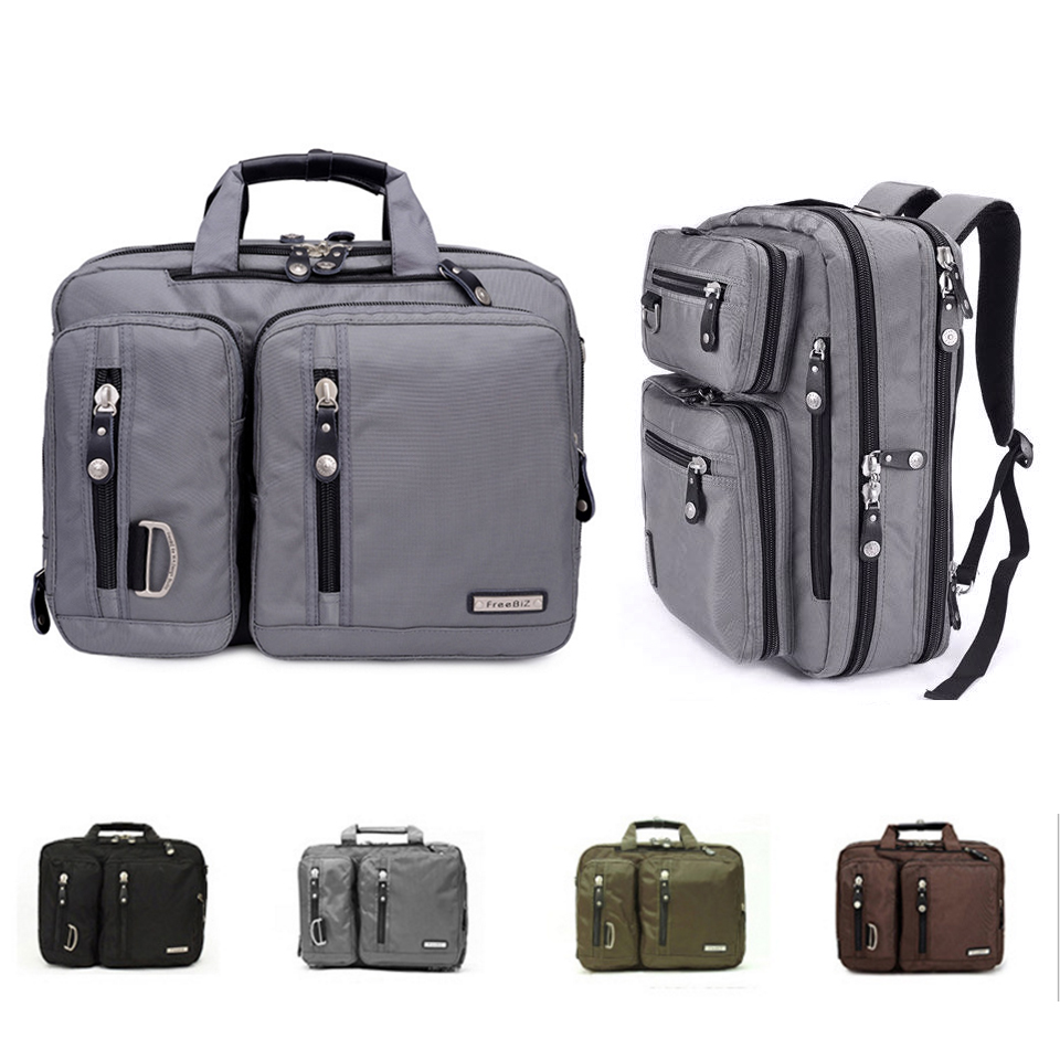 17.3/18.4 Inches Gaming Laptop Briefcase 3-in-1 Multi-Purpose Backpack Business Messenger Shoulder Bag Handbag