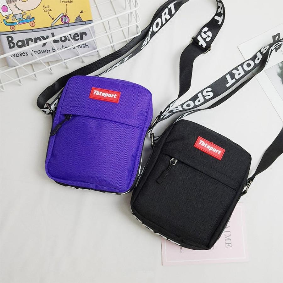 Harajuku Canvas Women Shoulder Crossbody Bag Letter Print Bags For Women Men 2019 Hip-Hop Fashion Girls Boys Phone Messenger Bag