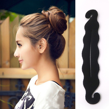 1PC Black Sponge Hair Styling Tool Magic Foam Hairdisk Devic