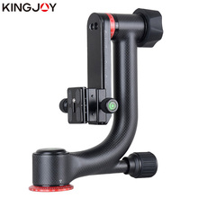 KINGJOY Official KH-6900/6900C Tripod Ball Head Professional Gimbal Tripod Head For DSLR Camera And 360 Degree Panoramic Fluid kingjoy kh 6750 flexible aluminum camera tripod head fluid video tripod head for canon nikon and other dslr cameras f20859