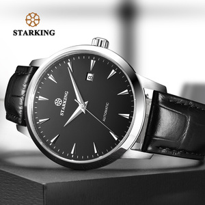 Image 3 - STARKING Automatic Watches Men Stainless Steel Business Wristwatch Leather Fashion 50M Waterproof Male Clock Relogio Masculino