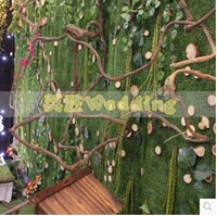 מלאכותי עלה קיסוס גפן צמחי צמחים מלאכותיים זר ירוק עלווה מזויף בית תפאורה חתונת דקור