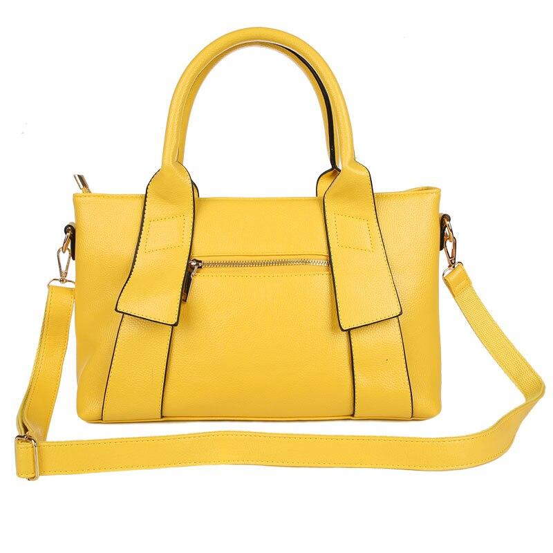 Image 2 - Yellow Handbag Women Bag PU Leather Blue Hand Bag Black Famous  Brand women messenger bag Luxury Designer bolsa feminina  W805handbag  polohandbag jewelleryhandbags bling