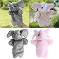 De dibujos animados de Animales Dedo Marioneta de mano Juguetes de Peluche de Elefante Muñeco de Regalo Para Bebés y Niños