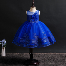 2019 Girl Princess Dresses Fluffy Sweet Fashionable  Elegant Wedding Ball Show Embroidery Lace Summer Style
