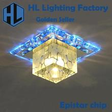creative square LED crystal ceiling chandelier light,applicable for corridors,porches and hallways