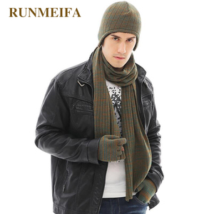 Image 3 - 2018 New arrival product Mens  winter warm Hat&scarf&Touchscreen gloves  Gifts in stock