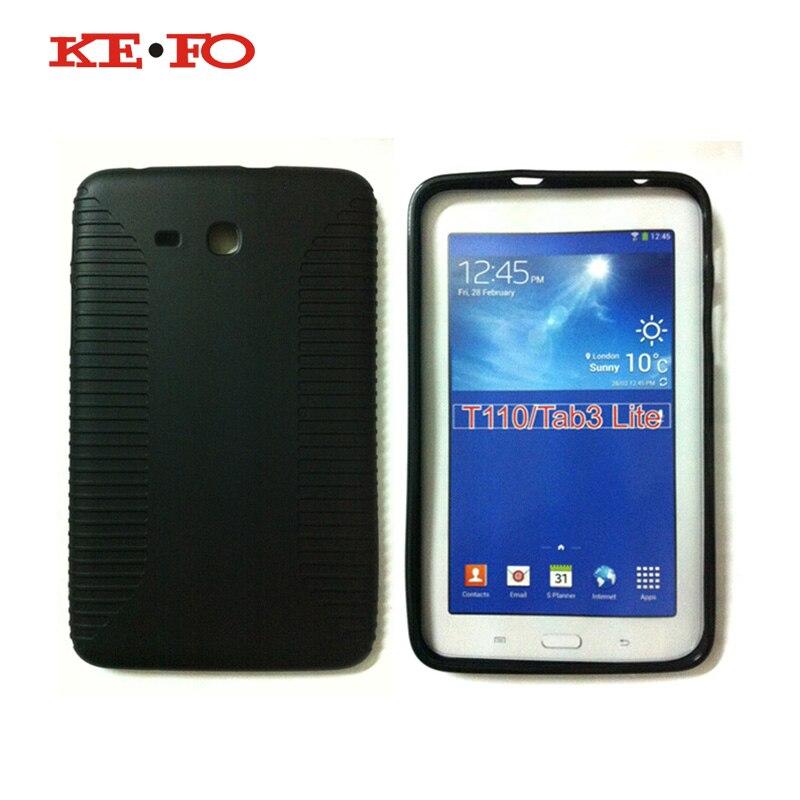 KeFo SM-T110 SM-T111 мягкий резиновый TPU силиконовый чехол для samsung Galaxy Tab 3 7,0 Lite T110 T111 T113 T116 SM-T111 SM-T116