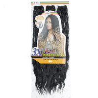 EUNICE 3X Curly Senegalese Twist Crochet loop Pre Twisted Kanekalon Toyokalon SynthetiC Braiding Hair with Wavy Ends 183PCS