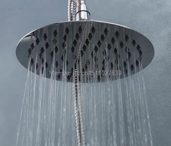 Cabezal de ducha de lluvia de acero inoxidable 304 nuevo y perfecto para baño redondo de 8 pulgadas 8021