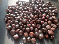 2.2lb NATURAL large red Garnet Tumbled Stone Original crystal Original Specimens