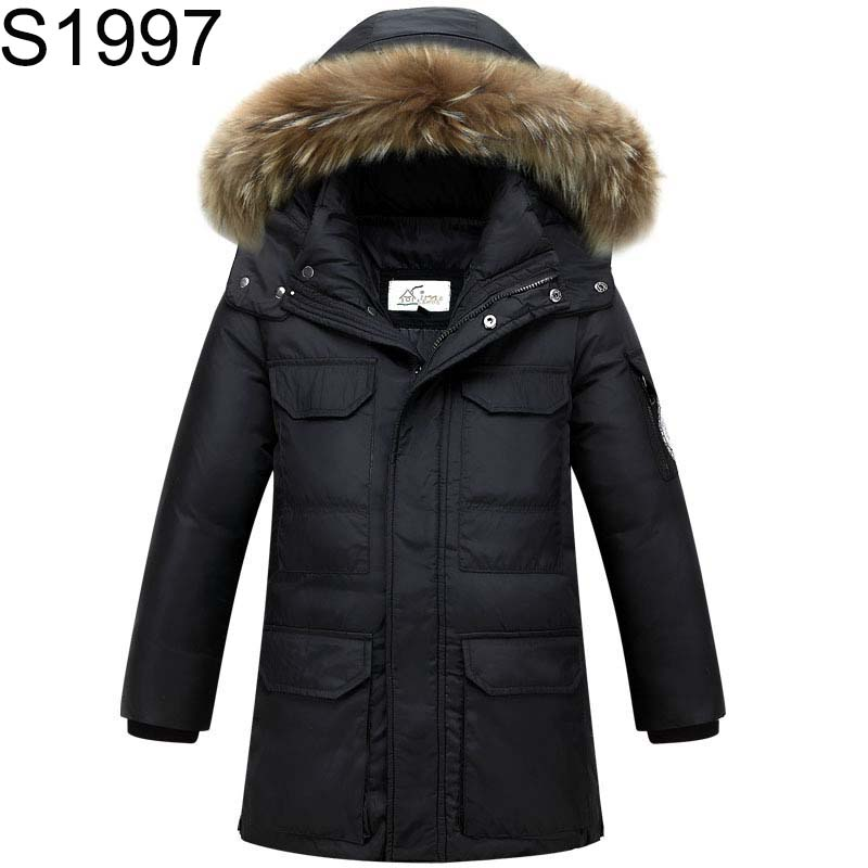 Fashion Teenage Boys Down Jackets Winter Thick Warm Duck Down Coats for Boys Children Fur Collar Hooded Long Sleeve Outerwears 100% white duck down women coat fashion solid hooded fox fur detachable collar winter coats elegant long down coats