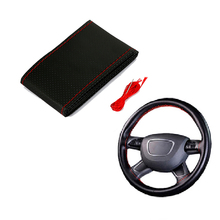 цена на New Hot 1Pcs Car Steering Wheel Cover DIY 38CM Steering Wheels Hubs cover Anti-slip Braid With Needles And Thread 4 colors