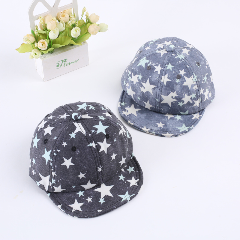 Cotton Bone Childrens Summer Baseball Cap Kids Pattern Hats Hip Hip Snapback Fashion Letter Camouflage Cap
