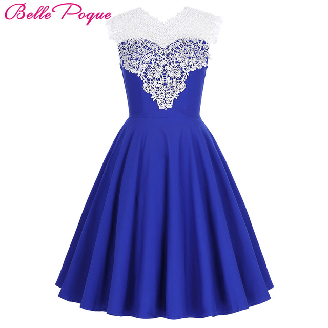771036910 Elegantes Vestidos de Preto Azul Das Mulheres Vestido Retro Vintage 50 s  Audrey Hepburn Vestidos Sem