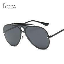 faa96e8be0f97 ROZA Polarizada Frame Da Liga de Óculos De Sol Para Homens Marca Designer  Big Size Siameses Lente de Óculos Retro Óculos de Sol .