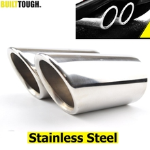2pc Exhaust Muffler Tips For VW Polo 6R Bora Golf 5 6 7 Mk7 Scirocco 1.4T Tiguan 1 Tail Pipe Tailpipe Finisher End Trim Cover