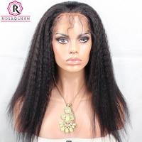 פאת תחרה מול ישר קינקי לנשים ברזילאי יקי גס שחור פאות שיער אדם עם בייבי שיער טבעי רמי רוזה מלכת שיער