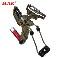 Laser Slingshot with Flashlight Stainless Steel Alloy Powerful Slingshot Outdoor Hunting Shooting