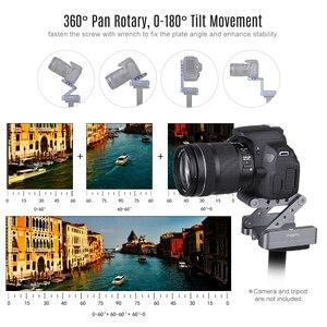 Image 2 - Andoer z shaped Flex Tilt głowica statywu 360 stopni płyta szybkiego uwalniania stojak do montażu na stojaku Canon Nikon Sony Pentax lustrzanka cyfrowa
