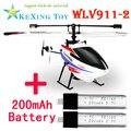 2.4G WLtoy V911-2 Mini RC Helicóptero de $ number canales sólo 1 unids VS V911 Aviones 2 unids whitout batería cargador de controlador V911-1