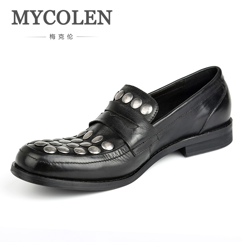 MYCOLEN High Quality Leather Men Loafers Slip On Fashion Summer Style Men Loafers Comfortable Flats Casual Shoes Man Shoes кольцо магия золота женское золотое кольцо с бриллиантами и изумрудом mg95648b e 17 5 page 7