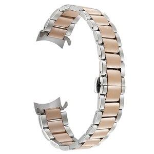 Image 5 - 18mm 20mm 22mm Stainless Steel Watchband for Casio BEM 302 307 501 506 517 EF MTP Series Curved End Strap Belt Wrist Bracelet