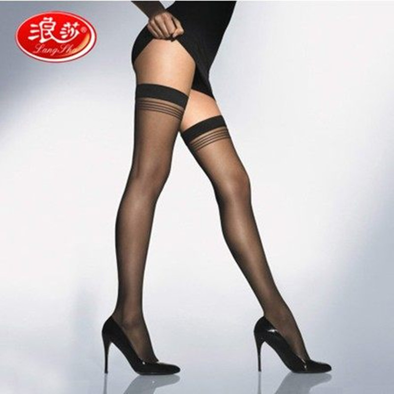 Women Brand Nylon Stockings Stripped Lady Over Knee Socks High Quality Lady Stocking Langsha