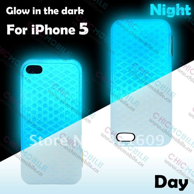 DHL FREE SHIPPING 100pcs/lot Van case  glow in  the dark silicon waffle shoe case For iphone 5 with retail packing